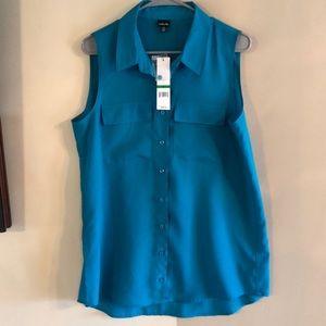 Turquoise large Rafaella sleeveless shirt